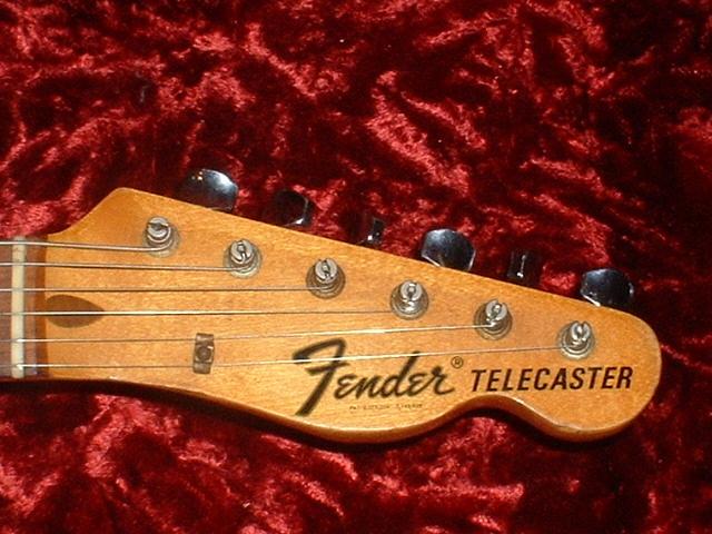 Vintage fender telecaster headstock decal dating